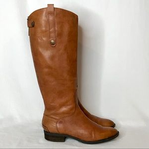 Sam Edelman Penny Whiskey Tall Leather Riding Boot